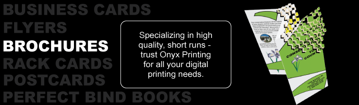 Onyx Printing - Full color brochures