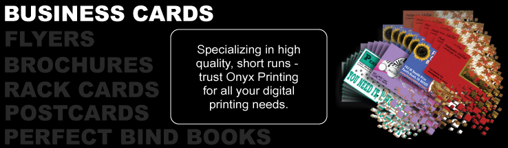Onyx Printing - Full color digital business cards