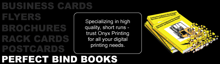 Onyx Printing - Perfect Bind Soft Cover Books
