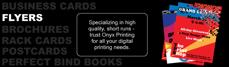 Onyx Printing - Full color sellsheets and flyers
