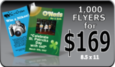 Discount - 1000 full color flyers for $169